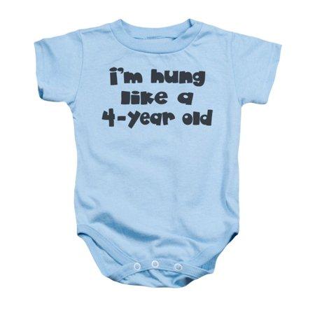 Hung Baby Onesie - Baby Onesie / 18M / Light - Baby Blue Baby