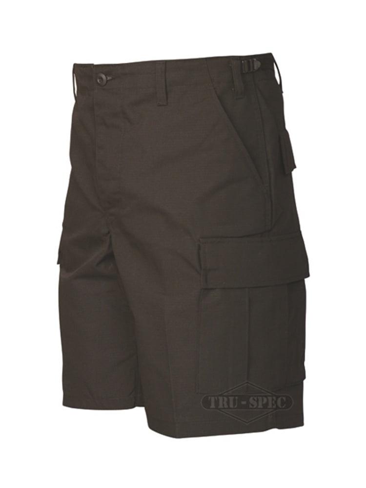 Tru-Spec 65/35 Polyester/Cotton Rip-Stop BDU Shorts Black Small