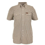 Outback Trading Shirt Mens S/S Performance Plaid Driftwood 42640