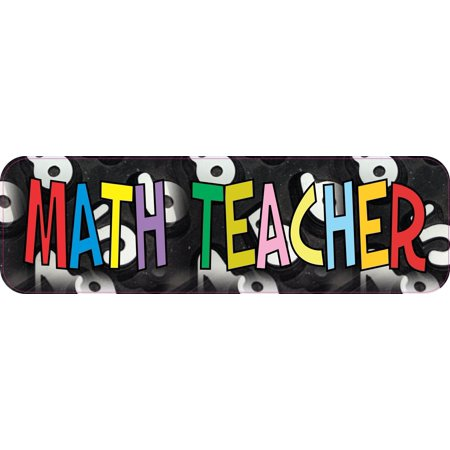 10in x 3in Math Teacher Teaching Bumper Sticker Vinyl Stickers Car Decal Window -