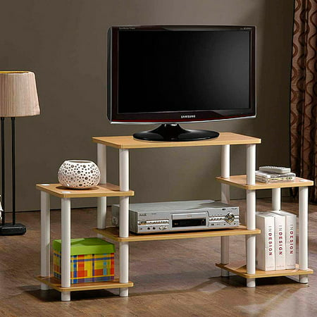 Turn-N-Tube No-Tools TV Stand Entertainment Center for TVs up to 37″, Multiple Colors