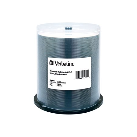 VERBATIM CD-R THERML HUB 100pk 700MB/52X SPIN-WHT