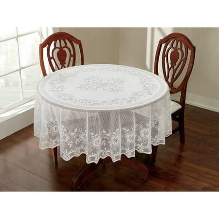 Awesome Lace White Tablecloth Beutiful Home Inspiration Xortanetmahrainfo