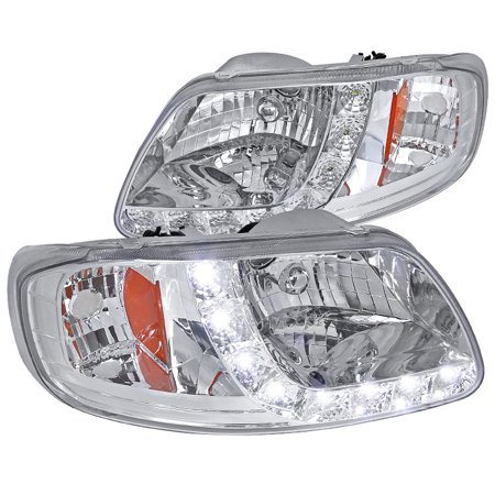 Spec-D Tuning 1997-2003 Ford F150 2004 Heritage Smd Led Headlights Head Lamps 1997 1998 1999 2000 2001 2002 2003 (Left + (2003 Ford F150 Heritage)