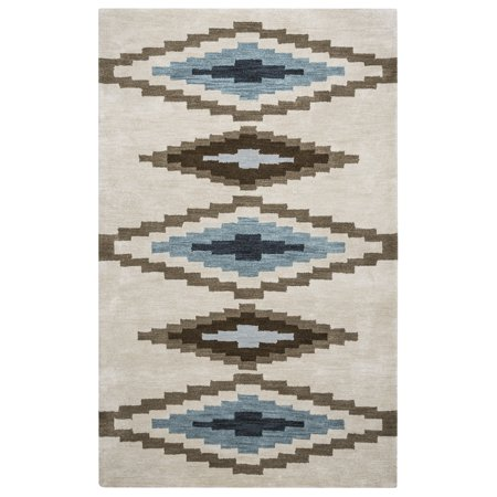Gatney Rugs Wildcat Area Rugs - TL9056 Southwestern Lodge Beige Blocked Shapes Diamonds Abstract Rug