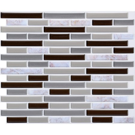 Removable Mosaic Wall Sticker Tile Paper Self-adhesive Home Kitchen Wall -