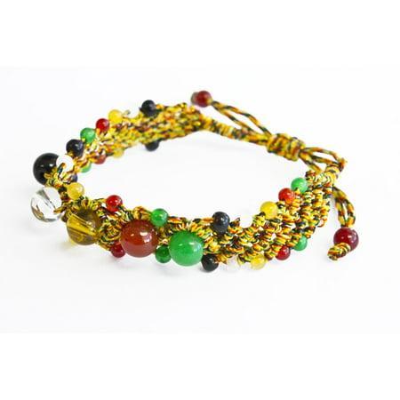 Feng Shui Bracelet with 5 Big Color Beads