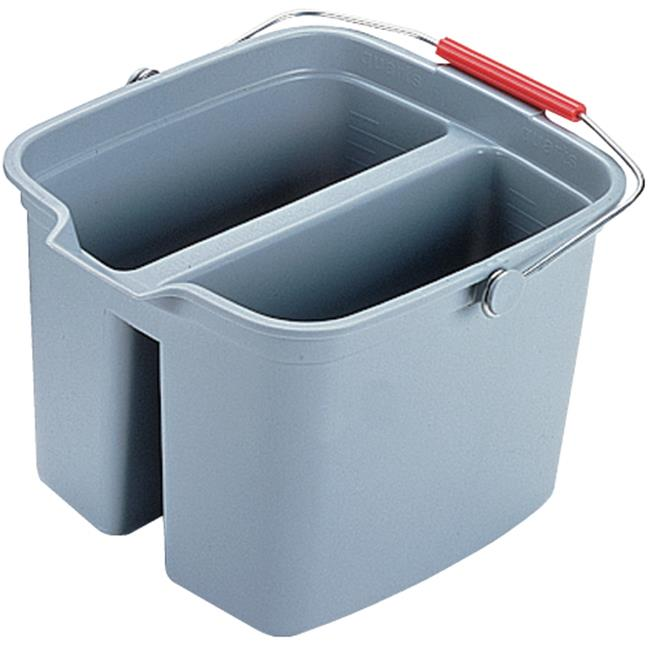 Rubbermaid Commercial Products 2617GRA Double Utility Pail, 17qt. - Gray