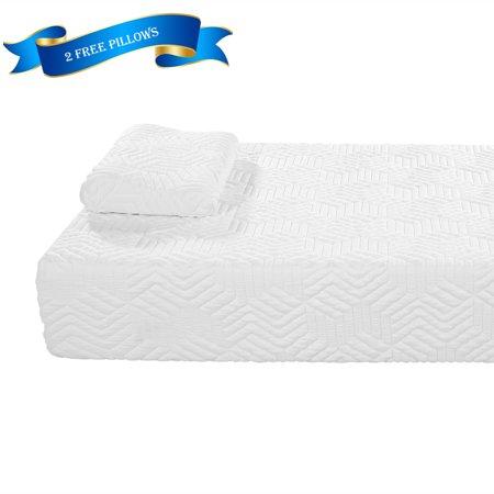ubesgoo 10 inch twin luxury two layer gel infused memory foam mattress topper. Black Bedroom Furniture Sets. Home Design Ideas