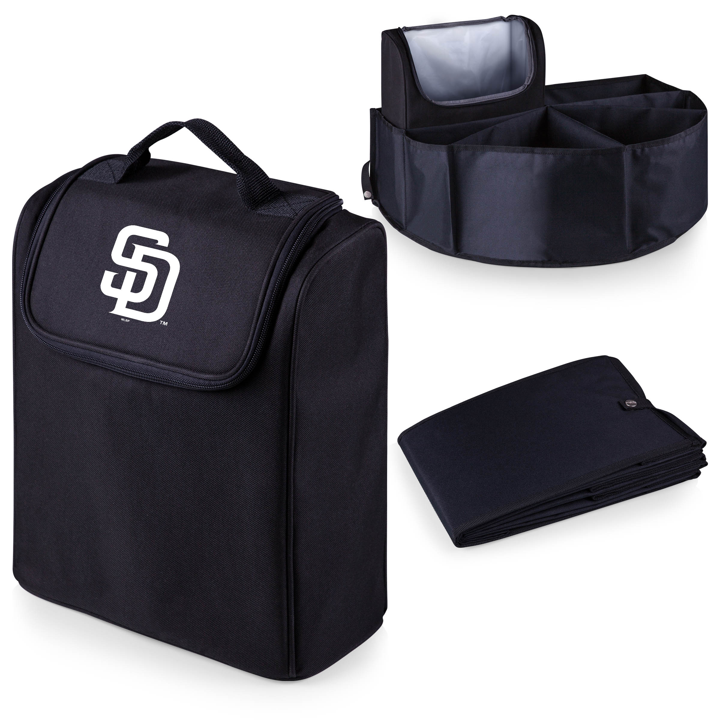 San Diego Padres Trunk Boss Organizer with Cooler - Black - No Size