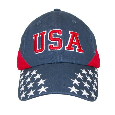 Dpc Global Trends  Cotton Usa Stars And Stripes Baseball Cap