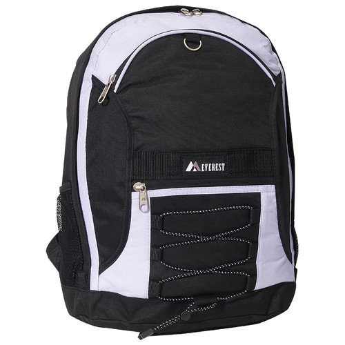 Two-Tone Backpack w/ Mesh Pockets