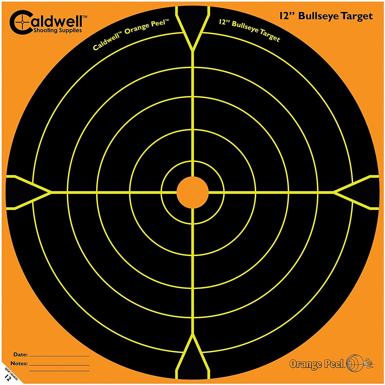 "Caldwell Orange Peel 12"" Bulls-Eye - 10 Sheets"