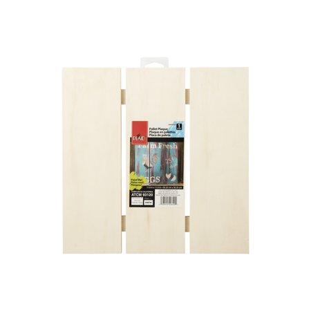 Plaid Medium Square pallet Plaque, 1 Each ()