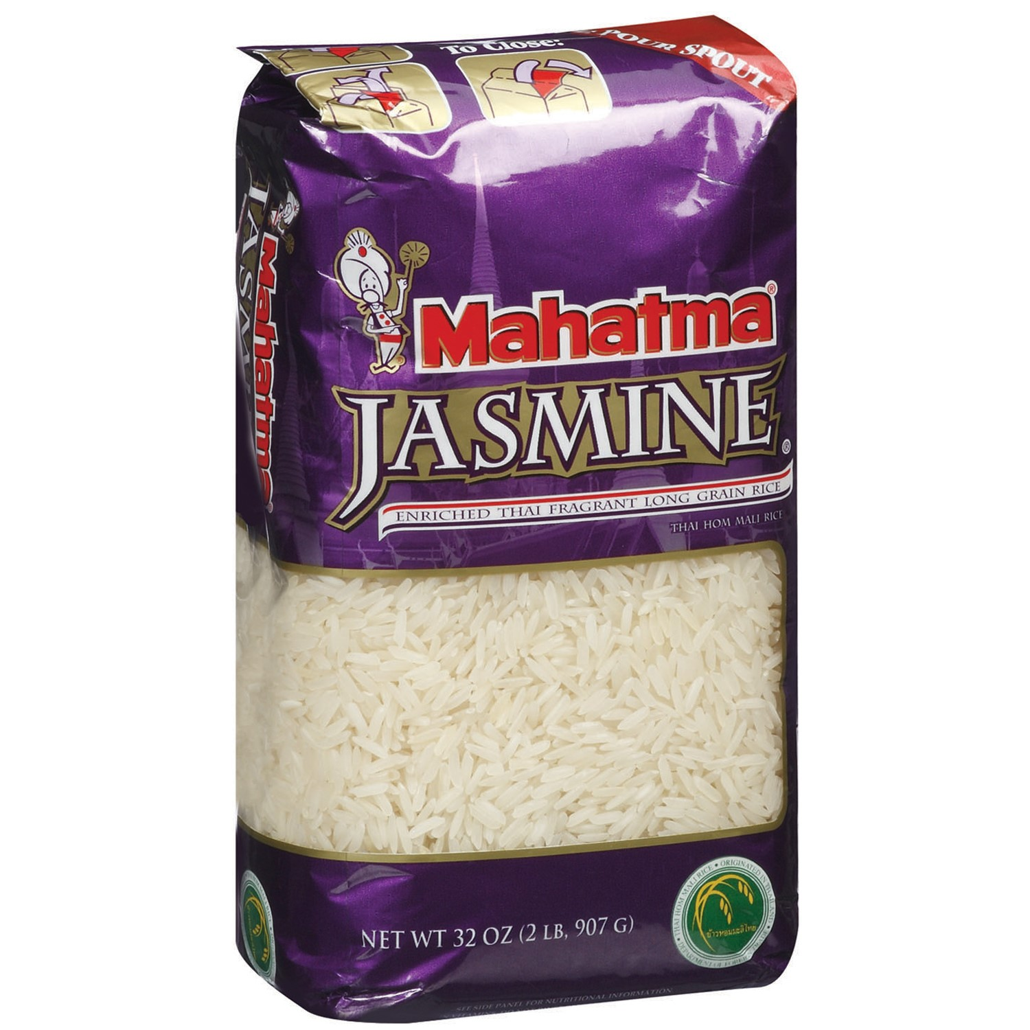 Mahatma Jasmine Long Grain Rice, 32.0 OZ