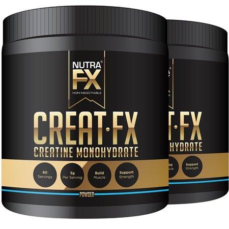 NUTRAFX monohydrate de créatine micronisée en poudre All Natural avant la séance d'entraînement et l'énergie Boost Muscle Building Suppléments (300g - 60 Portions) (2-Pack)