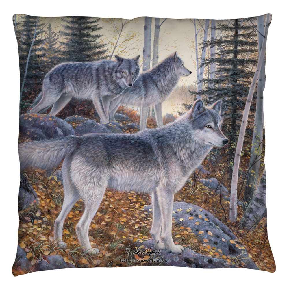 Wild Wings Silent Travelers 2 Throw Pillow White 18X18