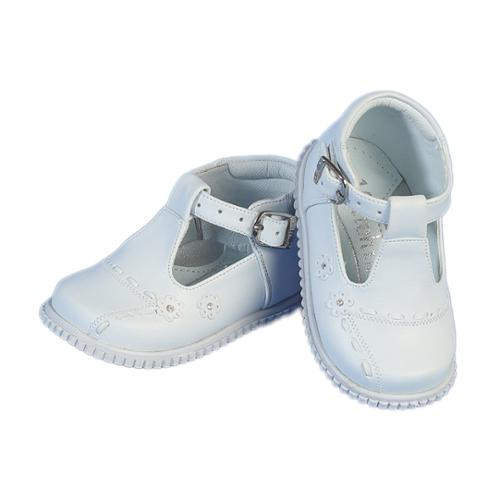 White Buckle Flowers Shoes