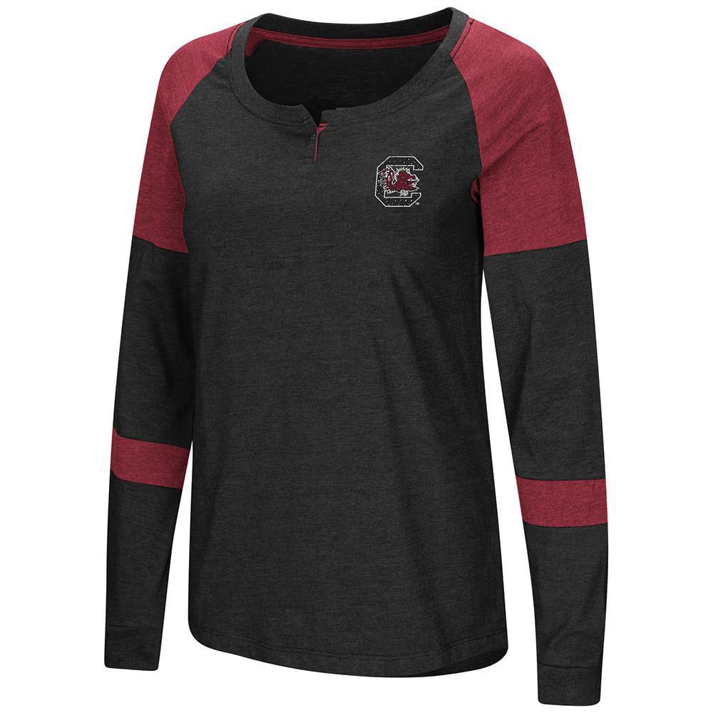 Womens South Carolina Gamecocks Long Sleeve Raglan Tee Shirt L by Colosseum