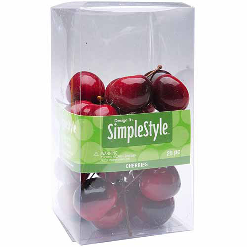 Design It Simple Decorative Fruit 25pk, Mini Cherries