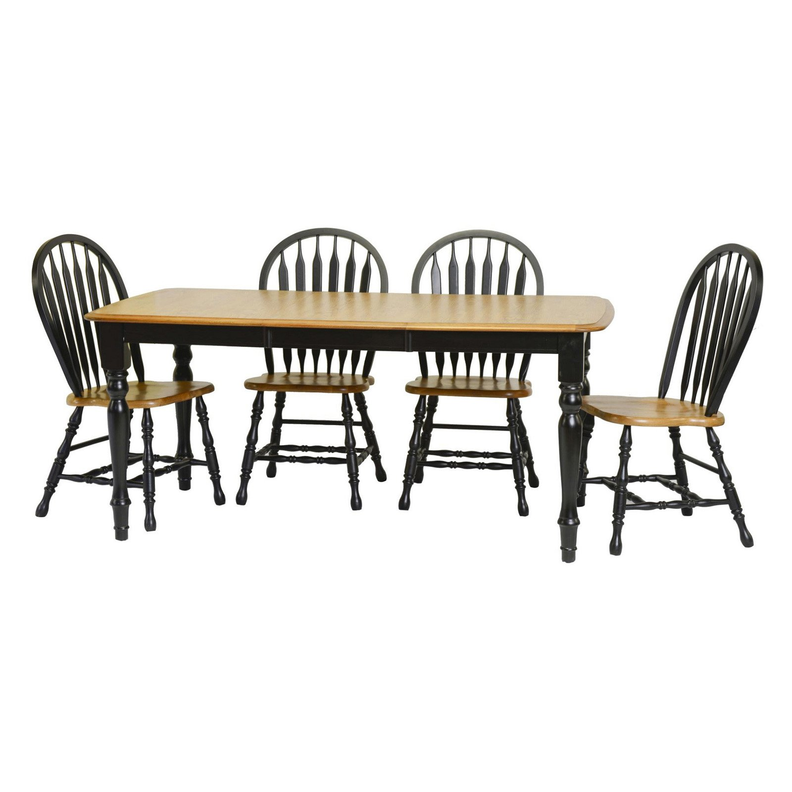 Tracey Dining Table in Harvest and Black Finish
