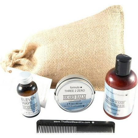 The Best Beard Company Cedarwood Premium Grooming Traveling Kit, 5 (Best Mens Grooming Kit 2019)