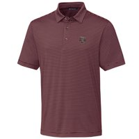 Texas A&M Aggies Cutter & Buck Big & Tall Forge Pencil Stripe Polo - Maroon