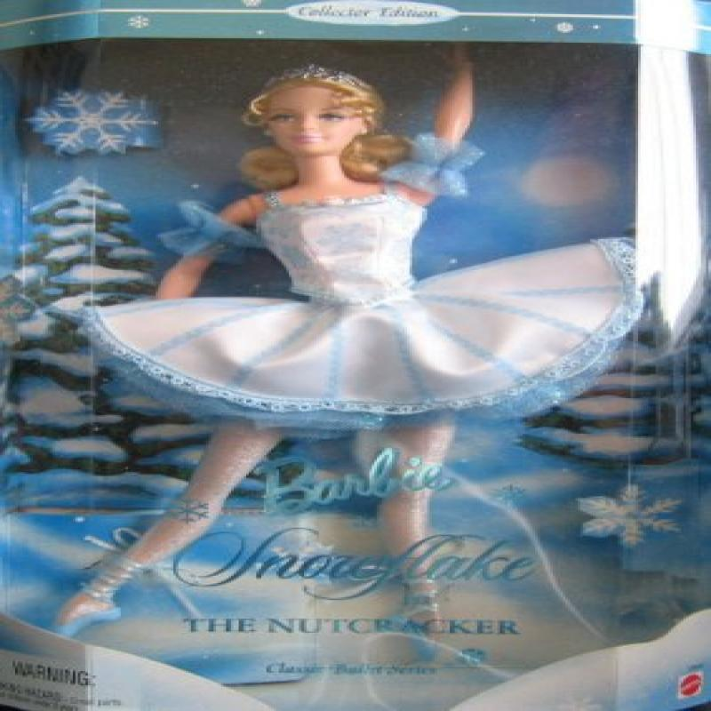 "Mattel Barbie As Snowflake in The Nutcracker 12"" Collecto..."