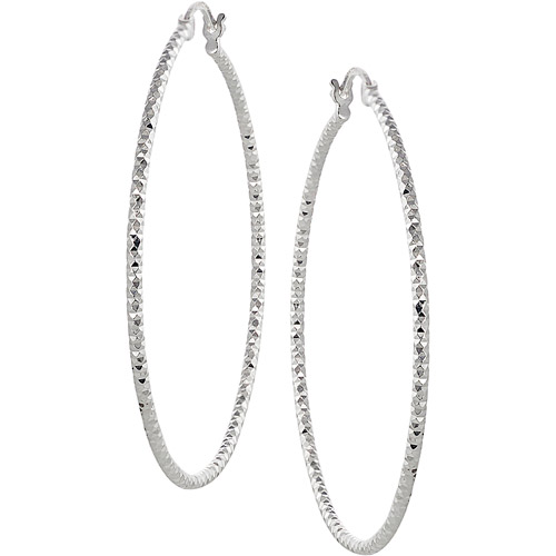 Brinley Co. Sterling Silver Hoop Earrings
