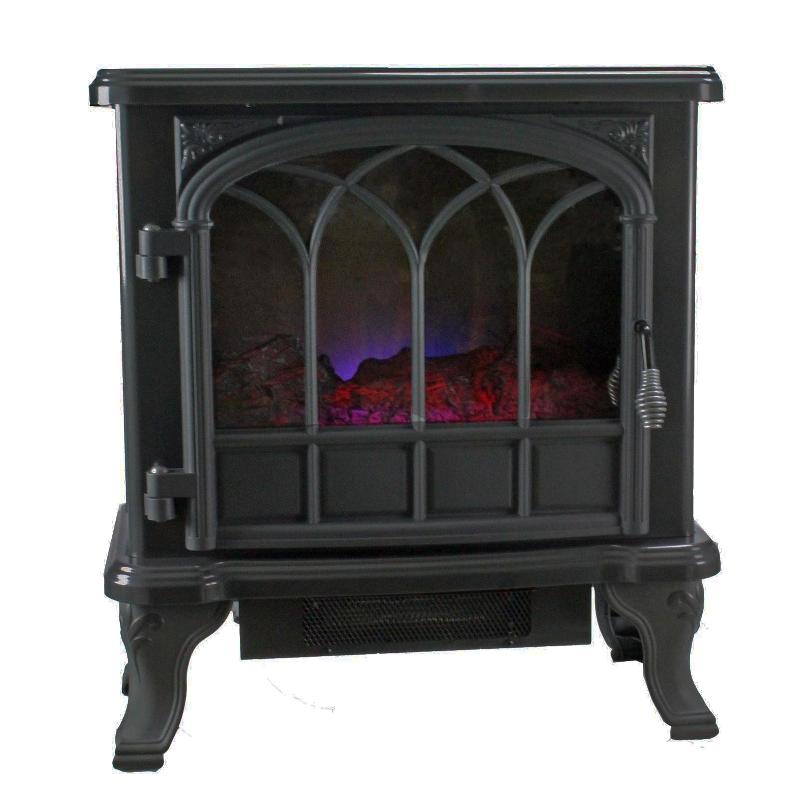 Duraflame 1500W Electric Stove Heater with Flame Effect, Black ...