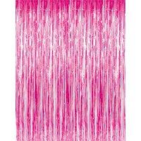 Metallic Fringe Curtains (Red, Green) 3ft x 8ft Pkg/12