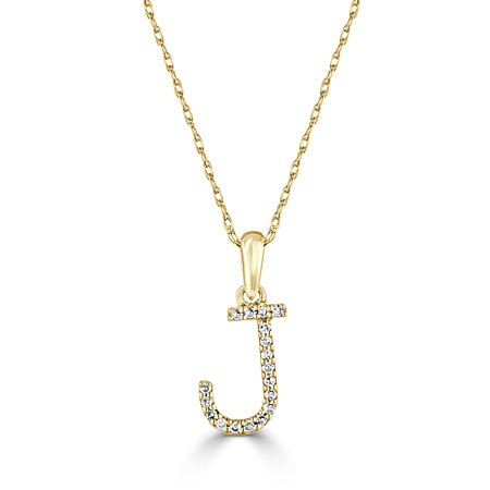 Sabrina designs 14k yellow gold and diamond initial letter j pendant sabrina designs 14k yellow gold and diamond initial letter j pendant necklace 16 chain monogram personalized gift jewelry walmart aloadofball Images