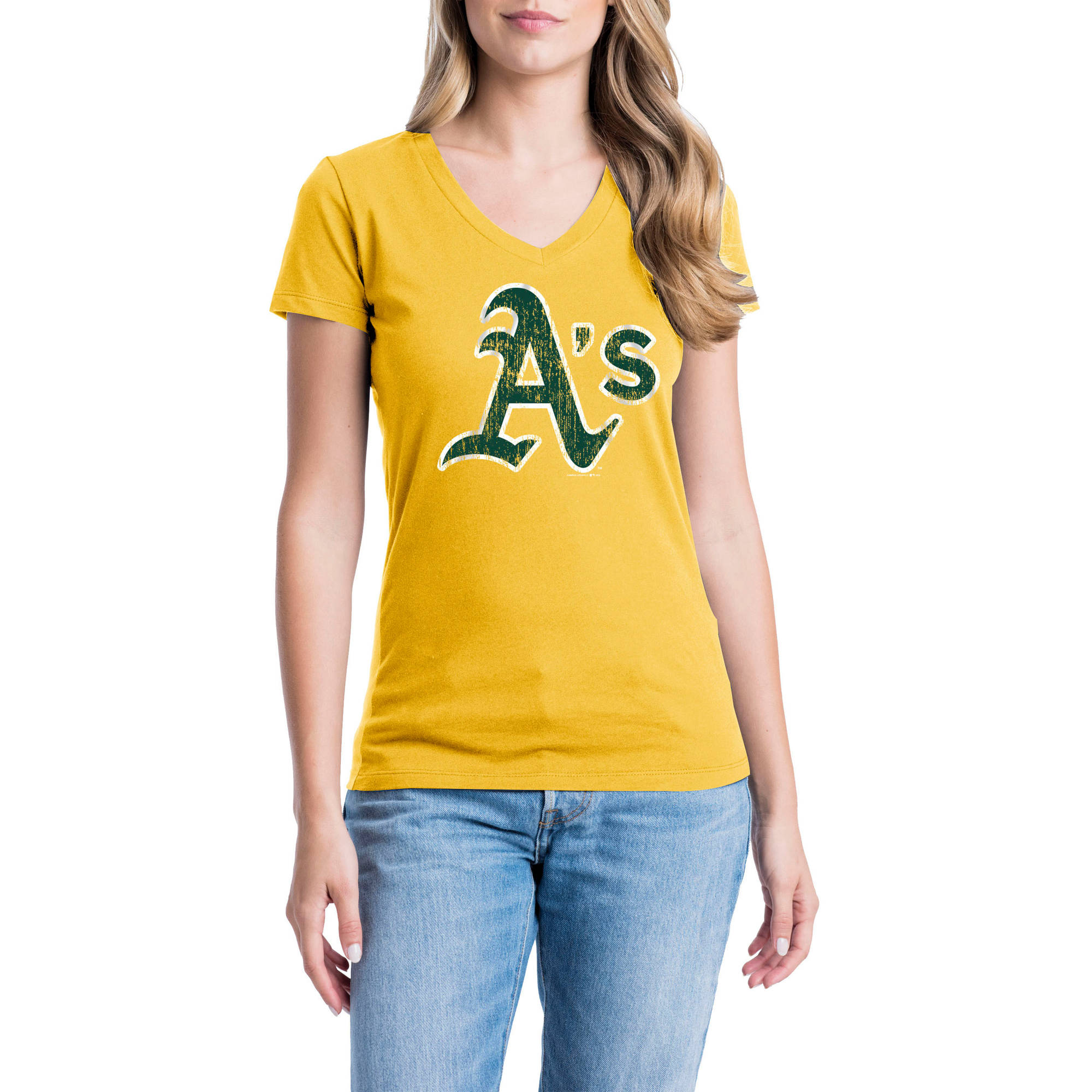 Oakland Athletics Womens Short Sleeve Graphic Tee