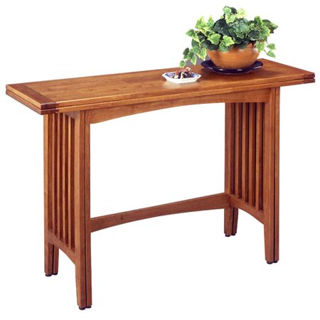 Home Styles Mission Style Convertible Sofa Table Oak Finish