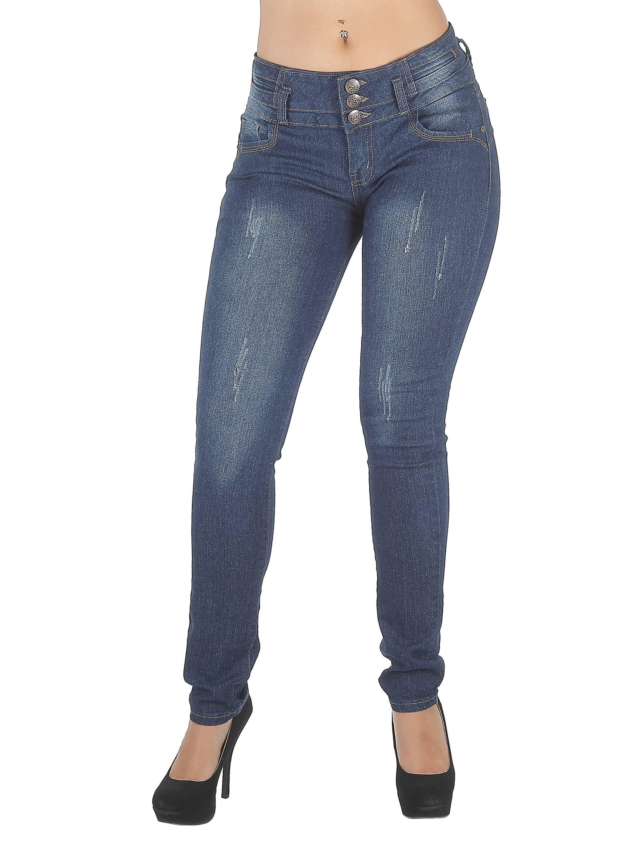 N611ATM - Colombian Design, Butt Lift, Levanta Cola, Mid Waist Sexy Skinny Jeans
