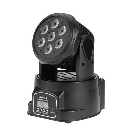 Lixada DMX-512 Mini Moving Head LED Stage Light 4 In 1 RGBW Lighting Strobe Professional 9/14 Channels