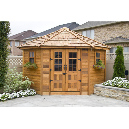 Outdoor Living Today 14 ft. 4 in. W x 10 ft. 9 in. D Wooden Storage Shed by Outdoor Living Today