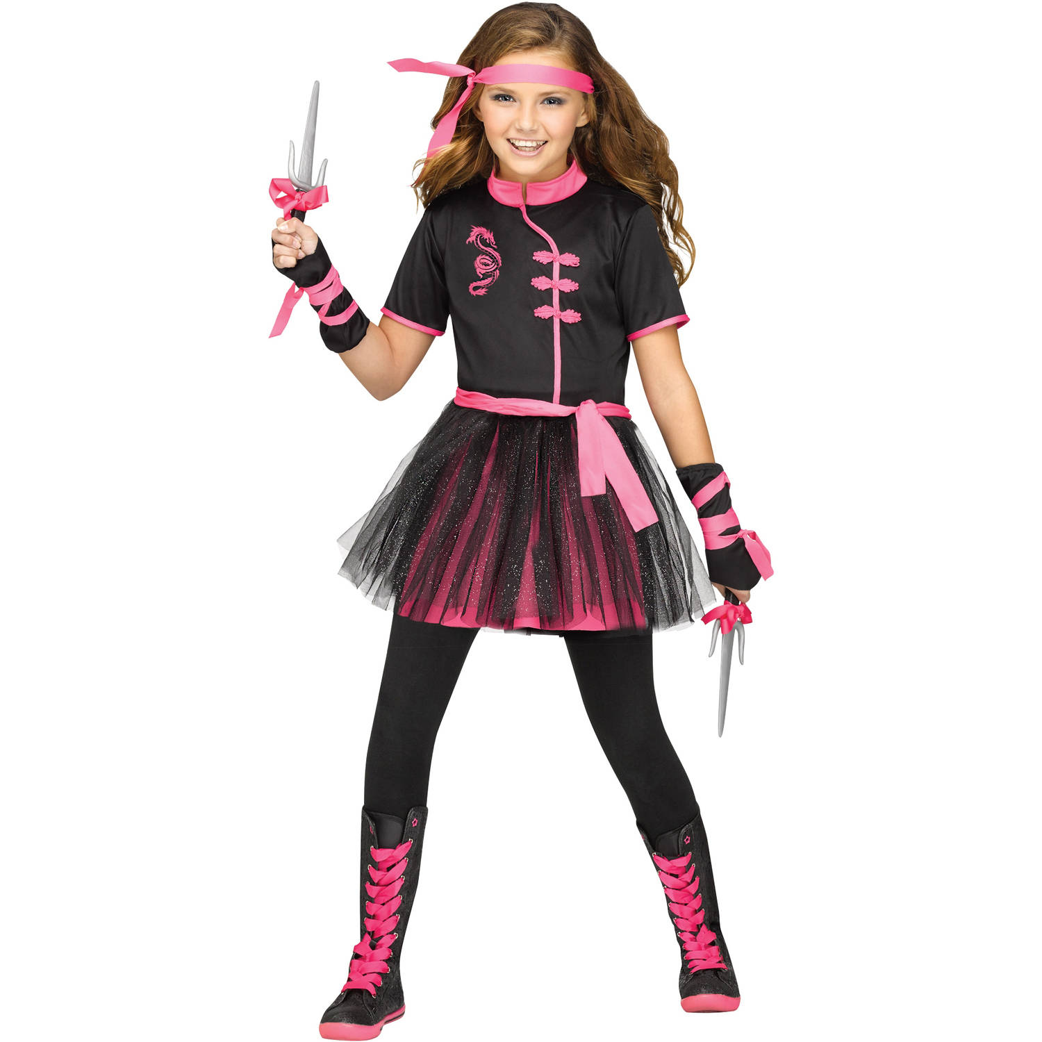 Ninja Miss Girls Child Halloween Costume