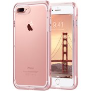 ULAK Reinforced Clear Hybrid Case for Apple iPhone 7 Plus, Rose Gold