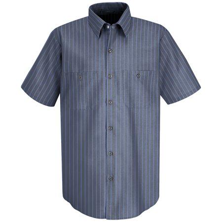 Red Kap SP24 Short Sleeve Work Shirt (Stripes)