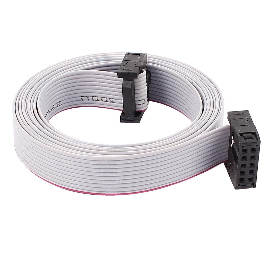 2.54mm Pitch 10PIN 10fils F/F IDC connecteur Cable Ruban Plat 148cm - image 2 de 2