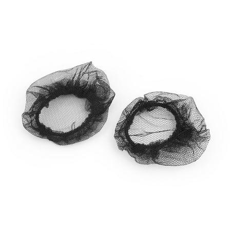 Lady Mesh Ballet Hairdressing Decor Bun Cover Band Hair Nets Black 10pcs - image 1 de 2