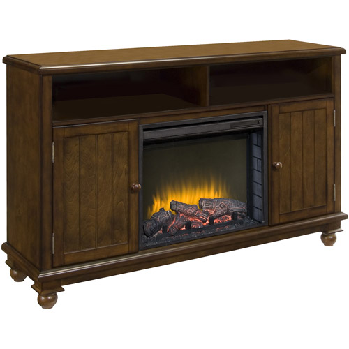 "Pleasant Hearth Pearson Heritage Media Electric Fireplace for TVs up to 60"", Walnut"