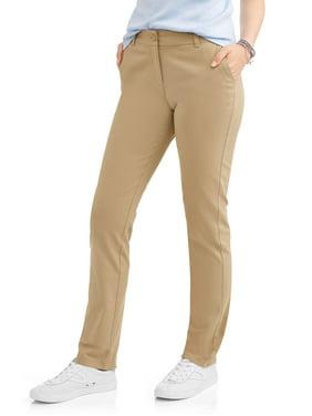 Wonder Nation Juniors' School Uniform Stretch Twill Skinny Pants