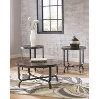 Flash Furniture Signature Design by Ashley Ferlin 3 Piece Occasional Table Set Bronze, Dark Brown