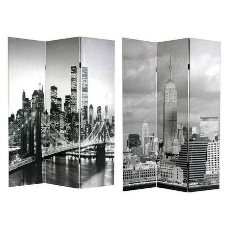 Double Sided New York Scenes Room Divider