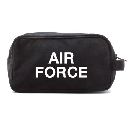 Air Force USAF Text Canvas Shower Kit Dual Compartment Travel Toiletry Bag thumbnail