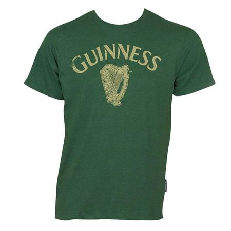 Guinness Distressed Harp Tee Shirt - Guinness Halloween