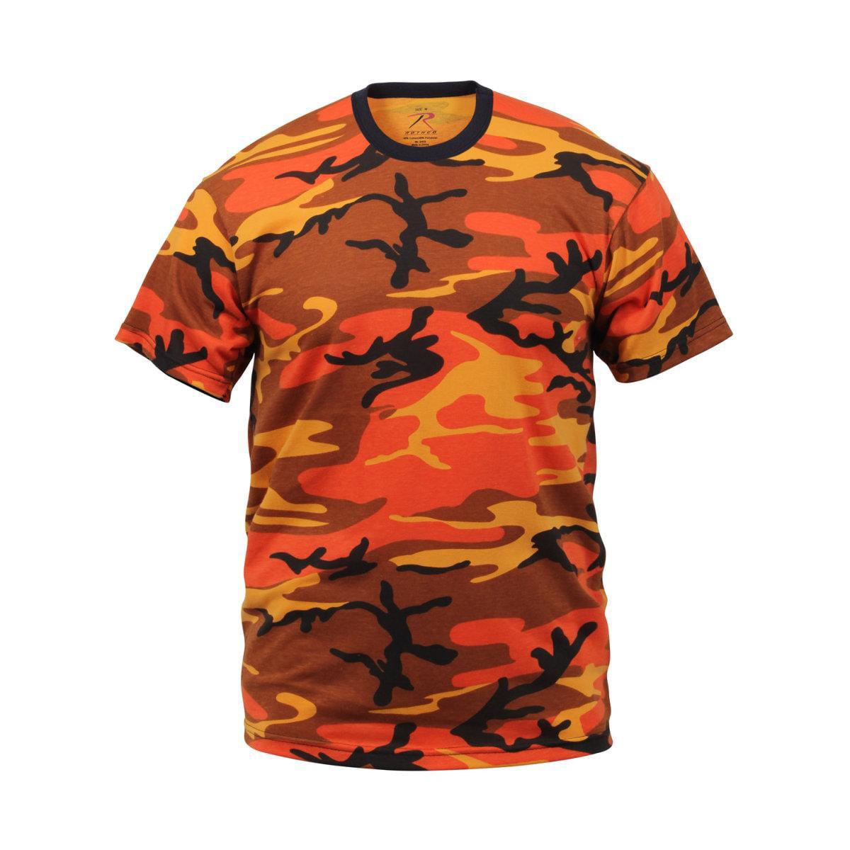 Savage Orange Camouflage T-Shirt