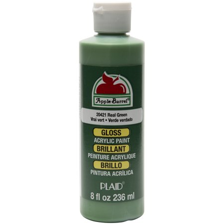 Apple Barrel Gloss Real Green Acrylic Paint, 8 Fl. Oz. ()